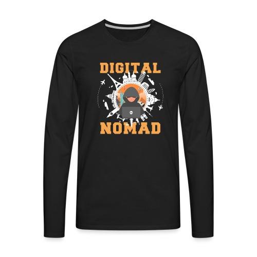 Digital Nomad - Männer Premium Langarmshirt