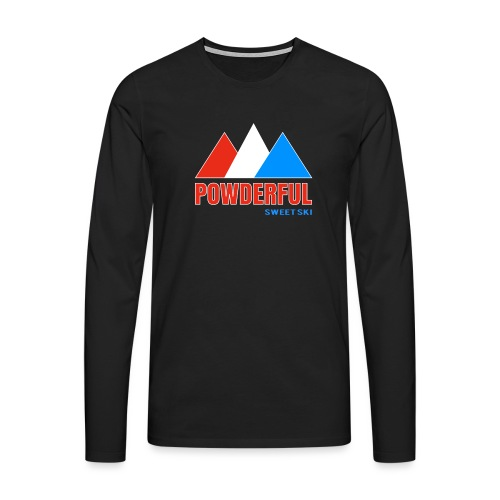 Powderful Sweet Ski - Männer Premium Langarmshirt