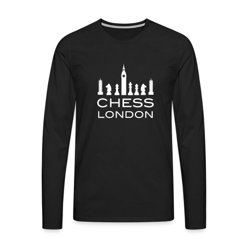 Schach London Weltmeister Schachfigur Geschenk - Männer Premium Langarmshirt