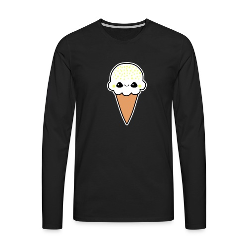 Happy Zitronen Eis - Männer Premium Langarmshirt