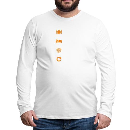 Eat Sleep Brew Repeat Brewers Gift - Men's Premium Longsleeve Shirt