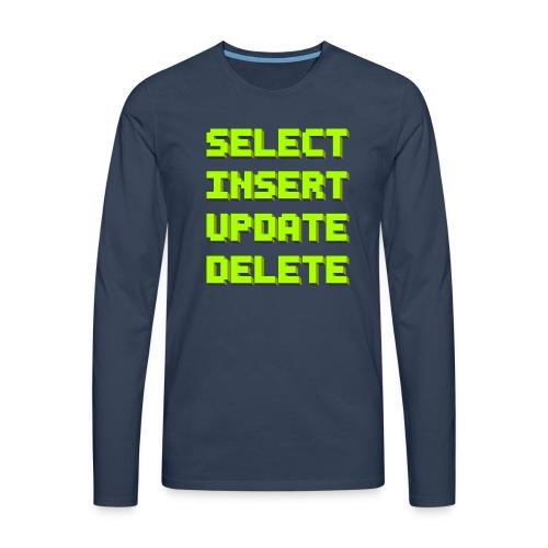 SQL pixelart black - Männer Premium Langarmshirt
