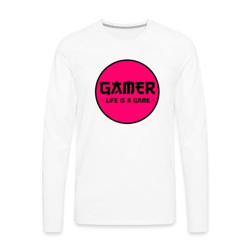 Gamer Life is a Game - Männer Premium Langarmshirt