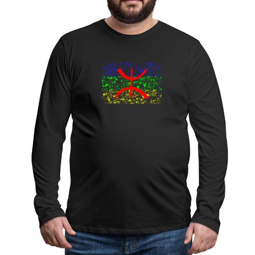 Drapeau Amazigh Art Signe Tifinagh Berbère - T-shirt manches longues Premium Homme
