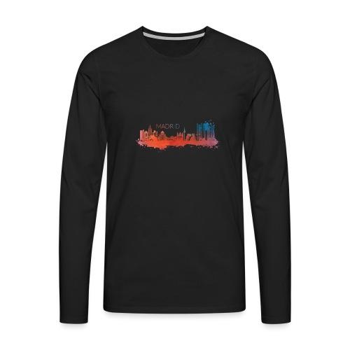 MADRID SKYLINE WATERCOLOR - Männer Premium Langarmshirt