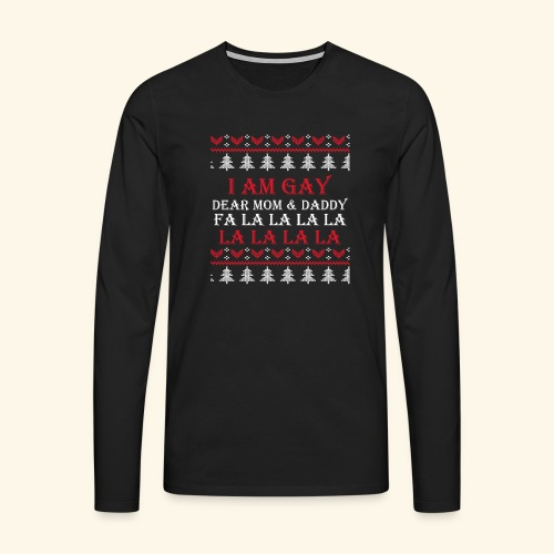 Gay Christmas sweater - Koszulka męska Premium z długim rękawem