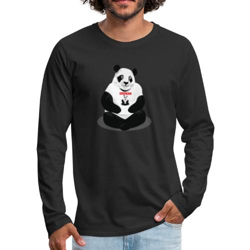 panda hd - T-shirt manches longues Premium Homme