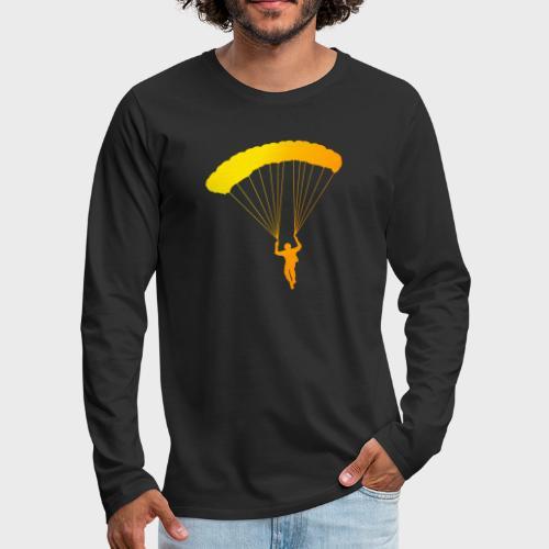 Colorfull Skydiver - Männer Premium Langarmshirt