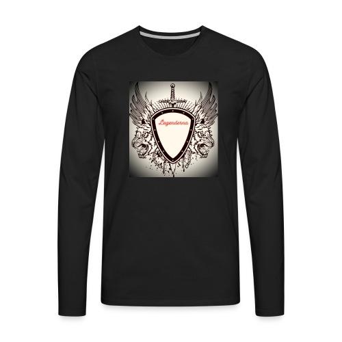 MR AIMs logga - Långärmad premium-T-shirt herr