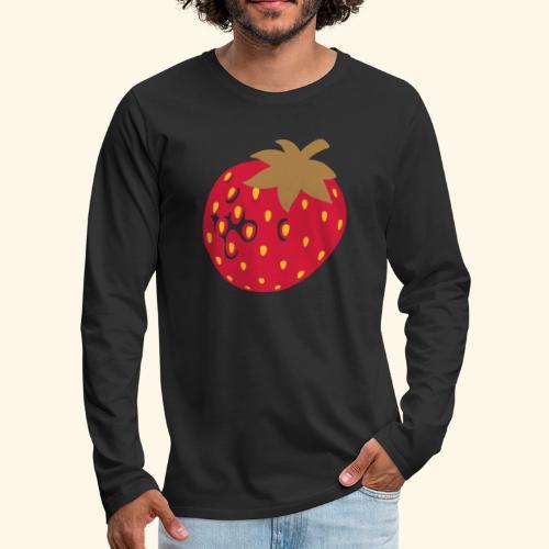 Erdbeere - Männer Premium Langarmshirt