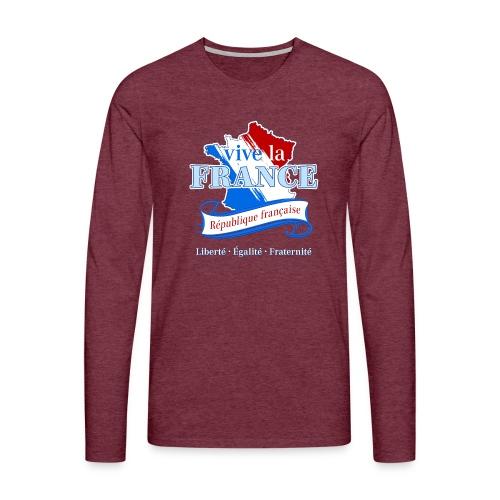 vive la France Frankreich République Française - Men's Premium Longsleeve Shirt