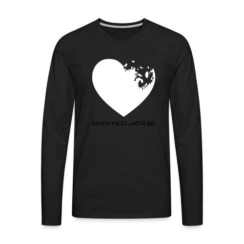 Cuore Appaloosa (bianco/rosso) - Maglietta Premium a manica lunga da uomo
