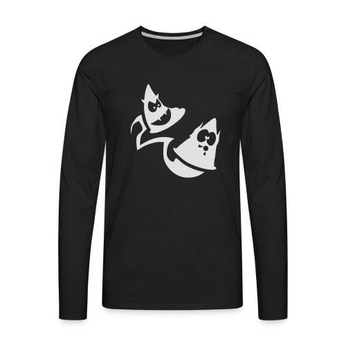Conos diabolicos con estela - Camiseta de manga larga premium hombre