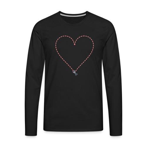 Coeur à découper - T-shirt manches longues Premium Homme