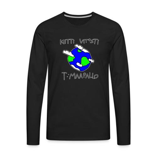 Kiitti - Miesten premium pitkähihainen t-paita