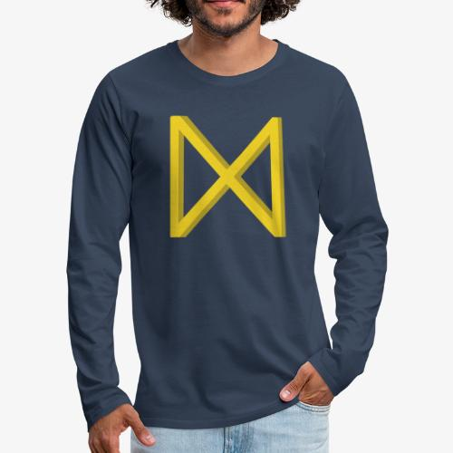 Rune Dagaz? Verdrehung von Extinction Rebellion? - Männer Premium Langarmshirt