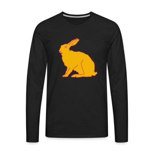 Gelber Hase - Männer Premium Langarmshirt