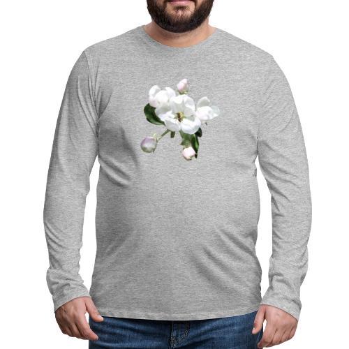 Omenankukka ja kukkakärpänen - Miesten premium pitkähihainen t-paita