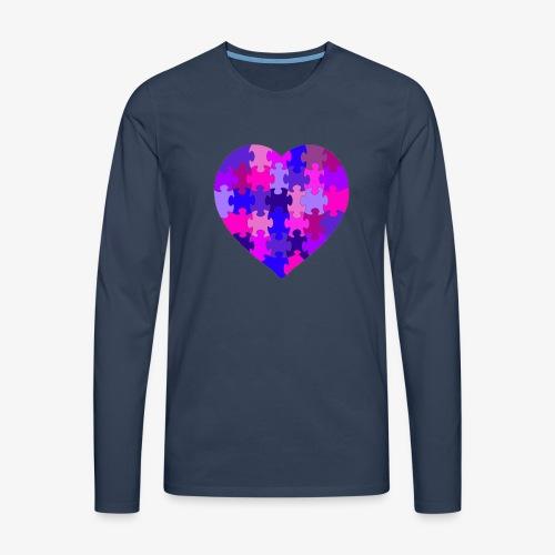 Purple Heart - Männer Premium Langarmshirt