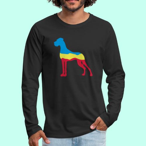 Flaggen Dogge - Männer Premium Langarmshirt
