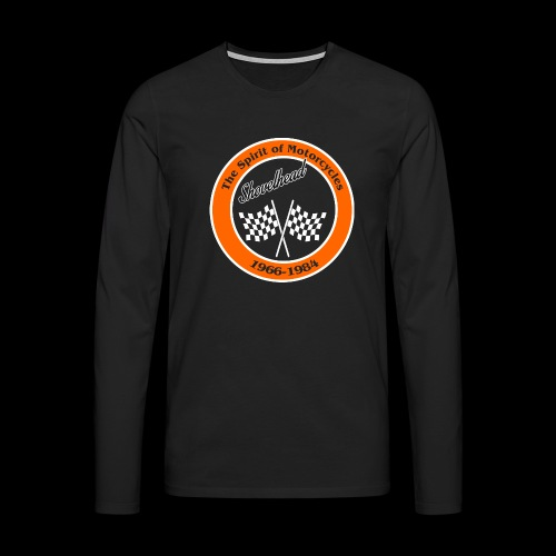 Zielflagge Shovelheat - Männer Premium Langarmshirt
