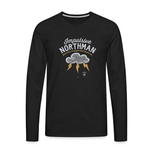 Impulsive Northman - Herre premium T-shirt med lange ærmer