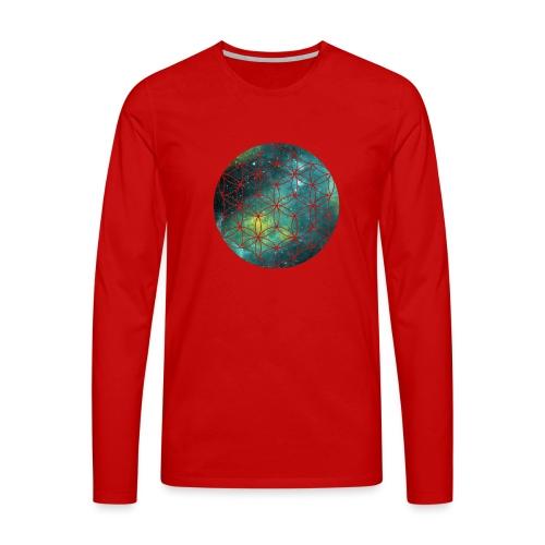 FlowerOfLife Cool - Mannen Premium shirt met lange mouwen