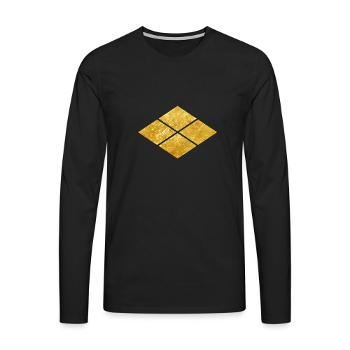 Takeda kamon Japanese samurai clan faux gold - Men's Premium Longsleeve Shirt