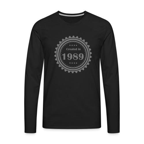 Retro Logo - Männer Premium Langarmshirt
