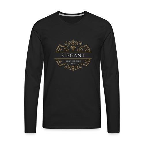 Sweat à capuche ELEGANT - T-shirt manches longues Premium Homme