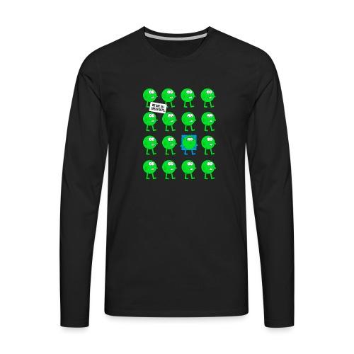 We are all green dots! - Männer Premium Langarmshirt