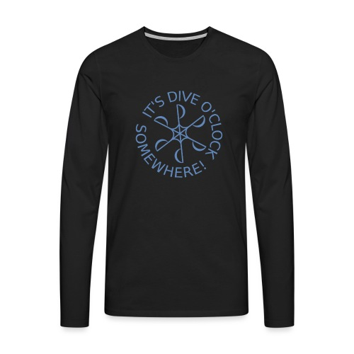 Dive o clock Light Blue - Men's Premium Longsleeve Shirt