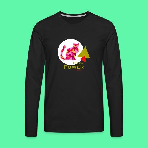 Pussy Power - Herre premium T-shirt med lange ærmer