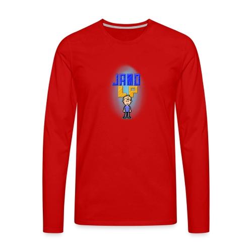 Pixel Jamo - Herre premium T-shirt med lange ærmer