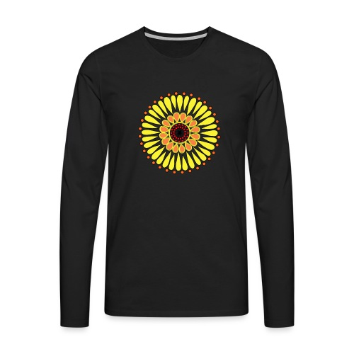 Yellow Sunflower Mandala - Men's Premium Longsleeve Shirt