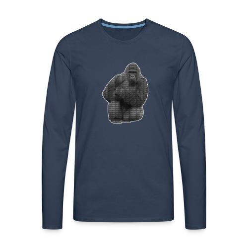 harambe 2k png - Herre premium T-shirt med lange ærmer