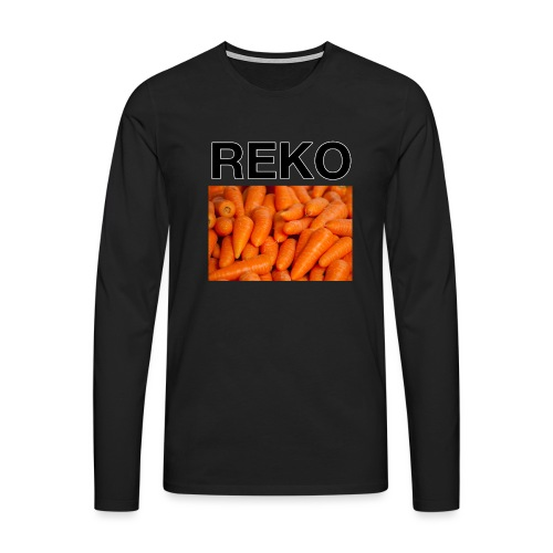 REKOpaita porkkanat - Miesten premium pitkähihainen t-paita