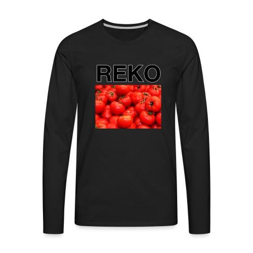 REKOpaita tomaatti - Miesten premium pitkähihainen t-paita