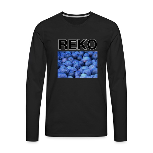 REKOpaita mustikka - Miesten premium pitkähihainen t-paita