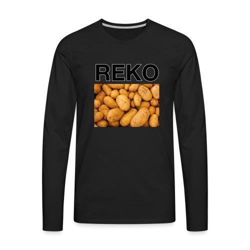 REKOpaita perunat - Miesten premium pitkähihainen t-paita