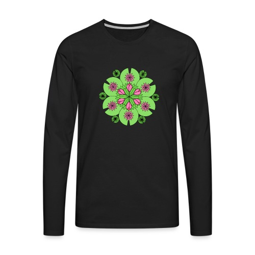 Pond Lotus Mandala - Men's Premium Longsleeve Shirt