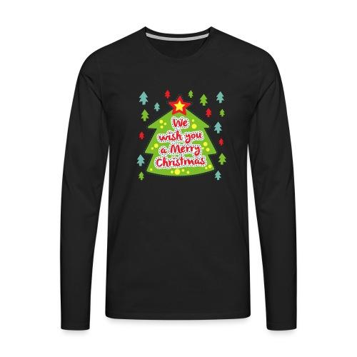 We wish you a Merry Christmas - Men's Premium Longsleeve Shirt