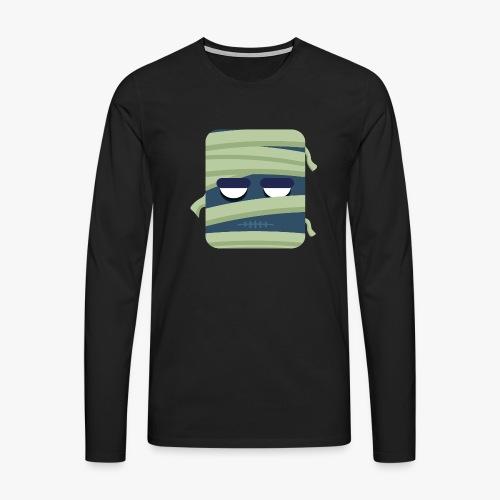 Mini Monsters - Mummy - Herre premium T-shirt med lange ærmer