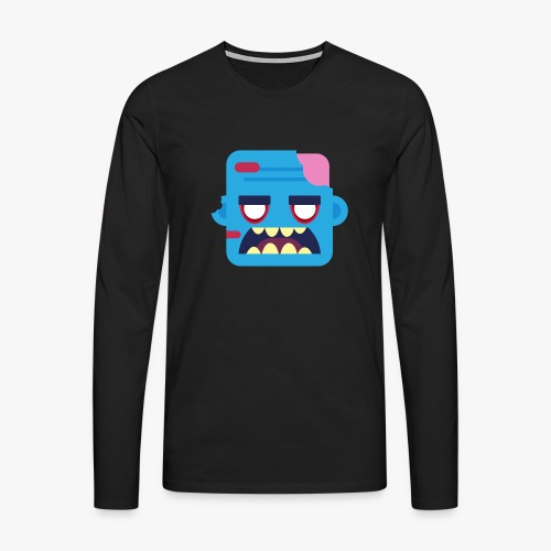 Mini Monsters - Zombob - Herre premium T-shirt med lange ærmer