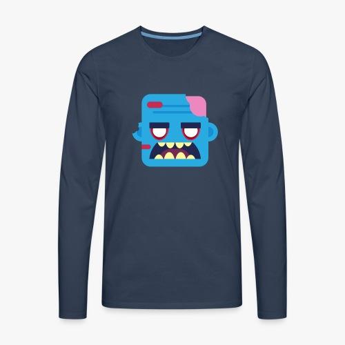 Mini Monsters - Zombob - Herre premium T-shirt med lange ærmer