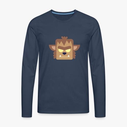 Mini Monsters - Werewolf - Herre premium T-shirt med lange ærmer