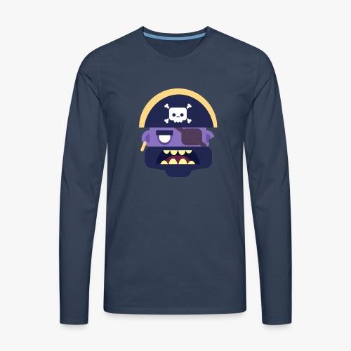 Mini Monsters - Captain Zed - Herre premium T-shirt med lange ærmer