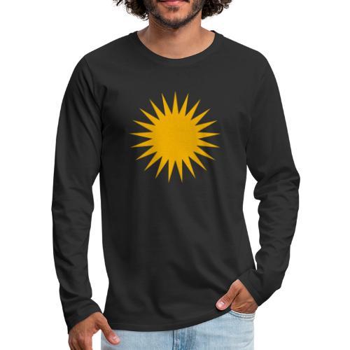 Kurdische Sonne Symbol - Männer Premium Langarmshirt