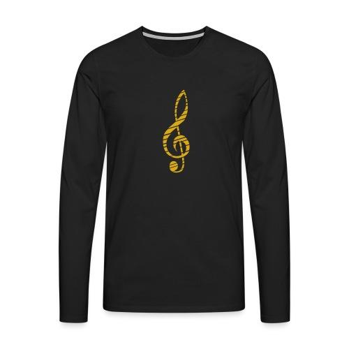 Goldenes Musik Schlüssel Symbol Chopped Up - Men's Premium Longsleeve Shirt