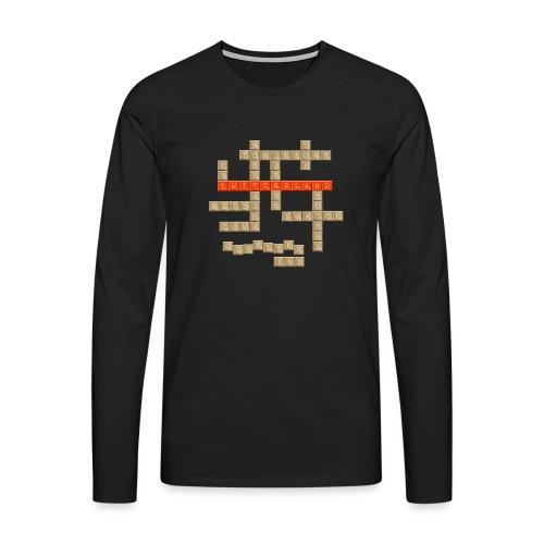 Scrabble - Switzerland - Männer Premium Langarmshirt